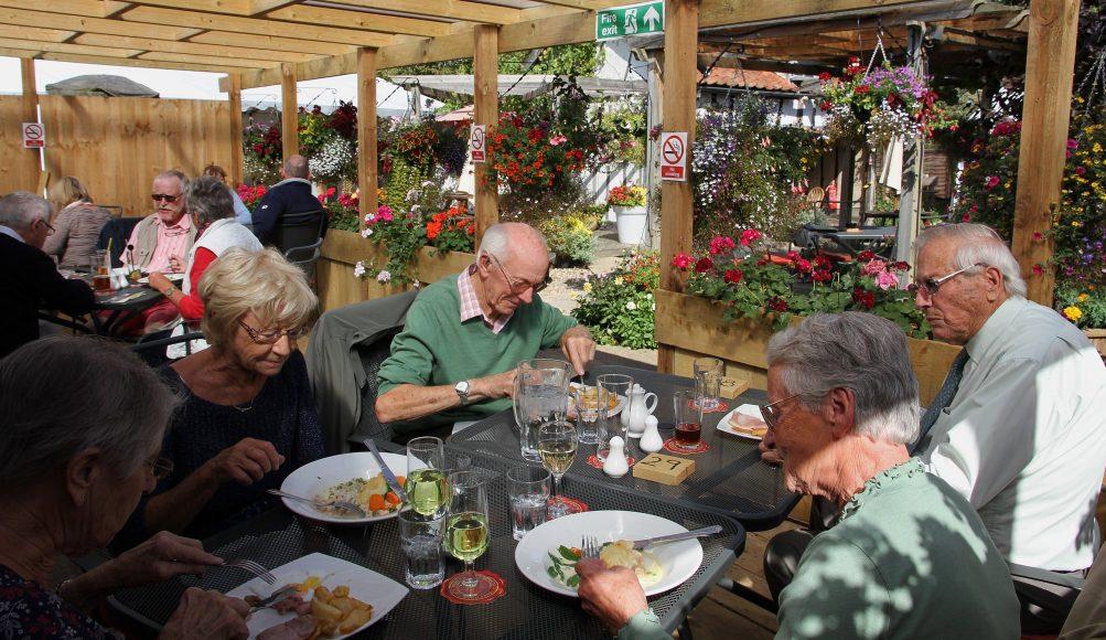 Pub Garden in Suffolk