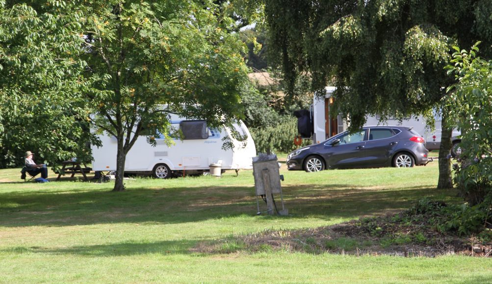 Caravan Club Site in Suffolk